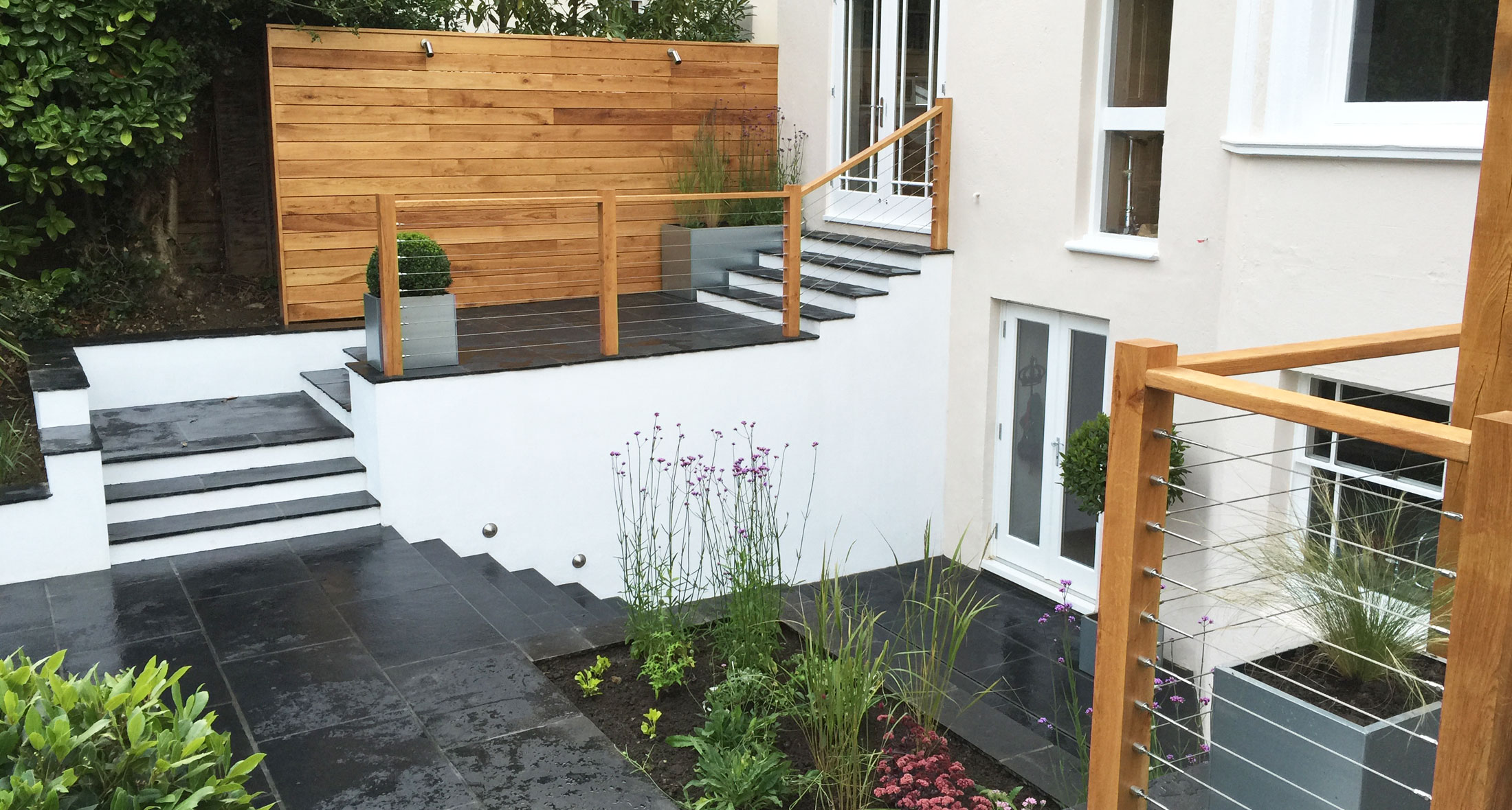 Slate Grey garden design landscaping Tunbridge Wells Kent