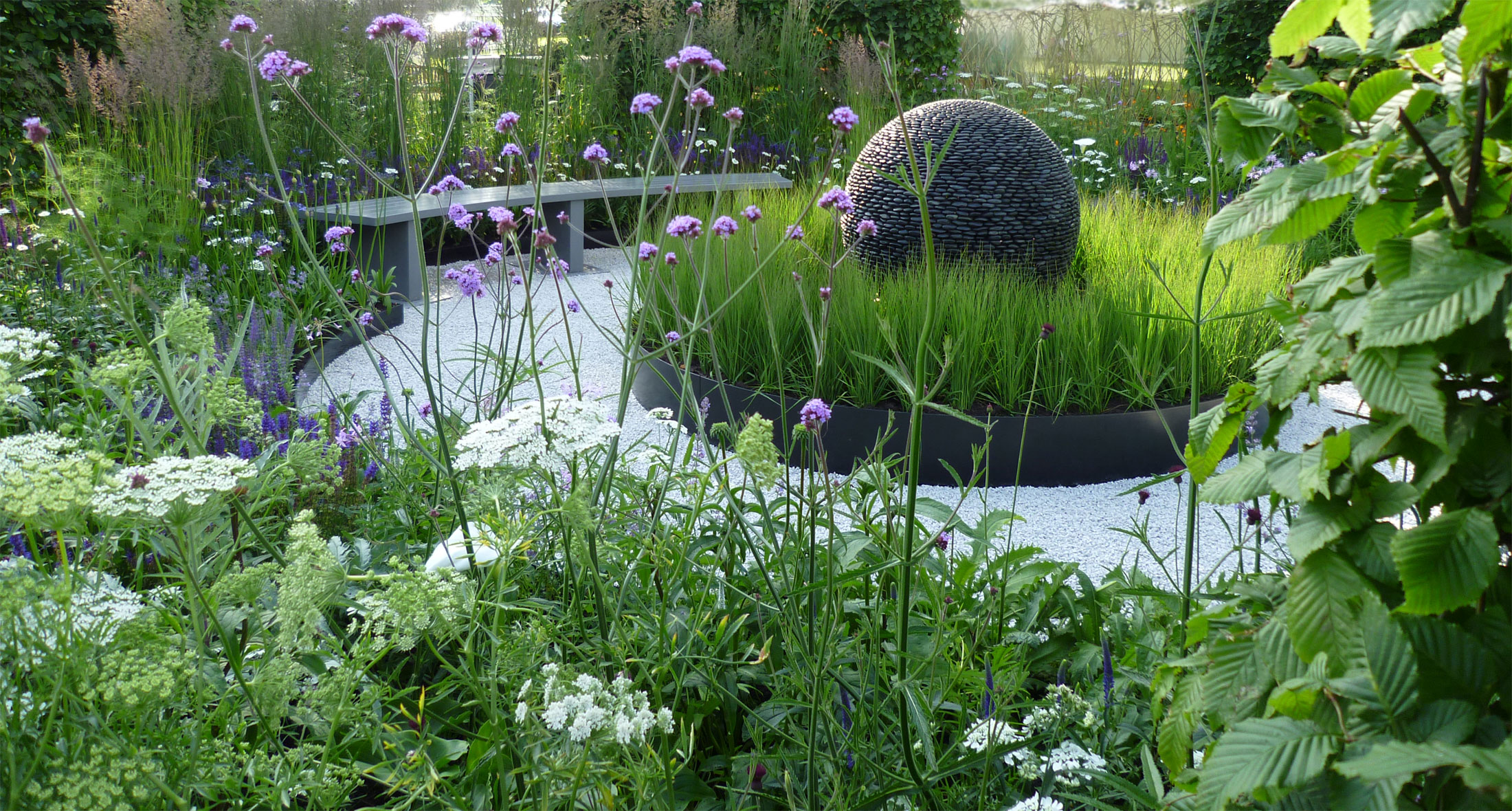 slate grey design blenheim show garden winner - Garden Design Uk