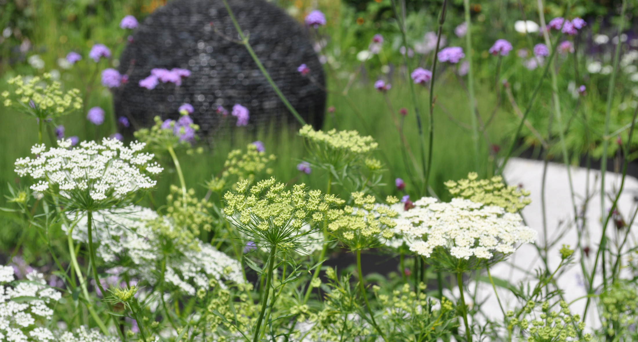 slate grey garden design and landscaping award-winning show garden