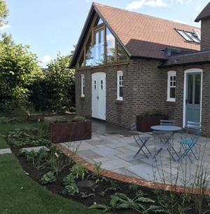Slate Grey garden design patio and borders planting, Edenbridge